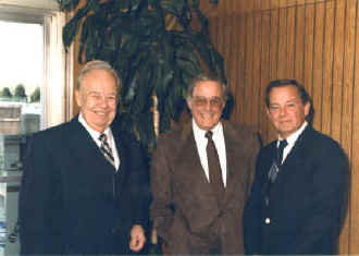 Bob surrounded by old friends Ned Locke and Don Sandburg.  From the Don Sandburg collection