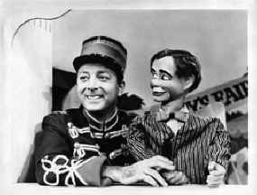 Terry and Red in a publicity still for WPIX's Let's Have Fun.  From the Bennett family collection.